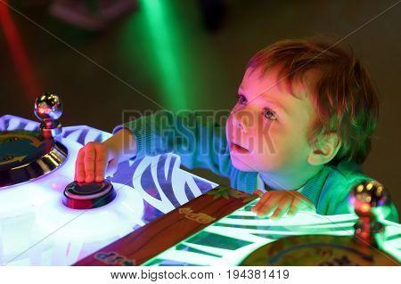 Portrait of a kid at amusement park