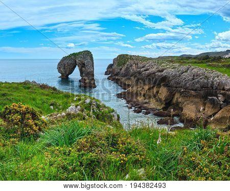 Villahormes Cliff, Spain.