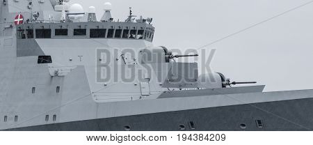 FRIGATE - Portrait of a Danish naval ship at sea