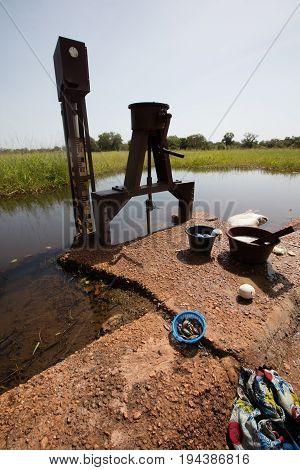 Fishing in the villlage in Burkina faso