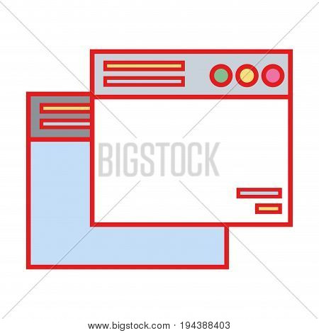 technology windows element and website document vector illustration
