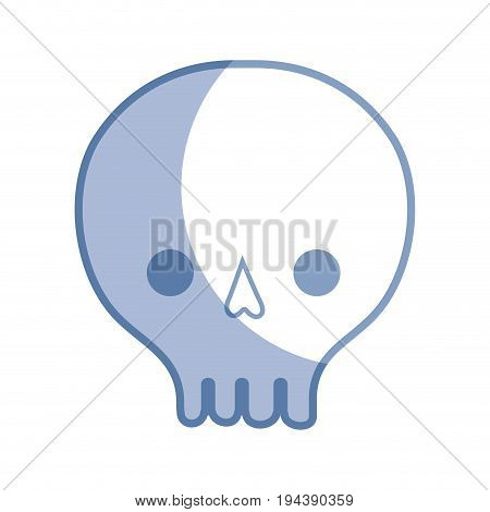 silhouette skull danger symbol to caution alert vector illustration