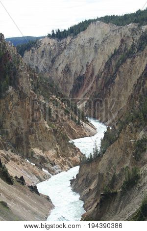 The grand canyon of the yellowstone, Yellowstone National Park, Montana.