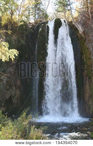 Spearfish falls in Spearfish canyon South Dakota fall 2016