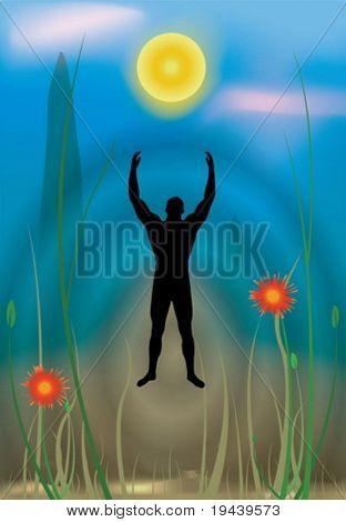 to reach higher ground