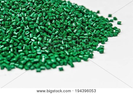 Polymeric dye. Plastic pellets. Colorant for plastics. Pigment in the granules.