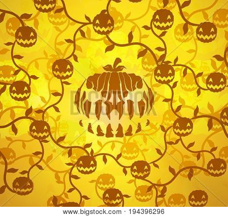 Halloween pumpkin patch shadows cartoon color light 3d illustration horizontal
