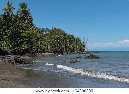 beach at Drake Bay on the Pacific Ocean in Costa Rica