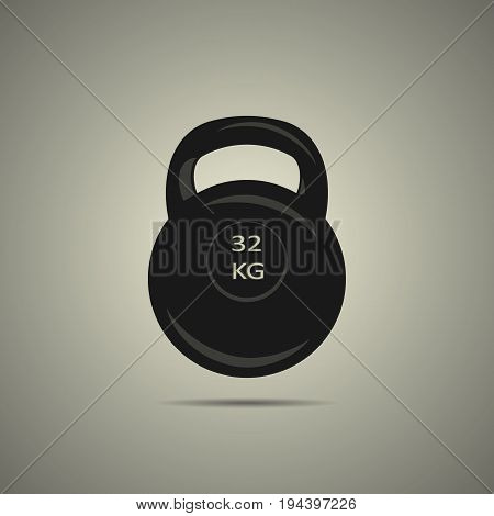 kettlebell sport weight icon in black and white style