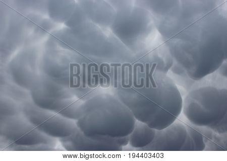 Stormy sky over Pas-de-Calais, Nord-Pas-de-Calais, Hauts-de-France, France
