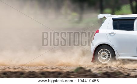 Rally car increase speed in dirt track
