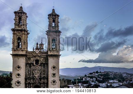 Baroque Facade Of The Santa Prisca Church