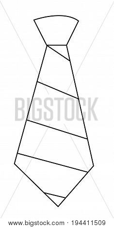 Striped Tie on White Background Coloring Page