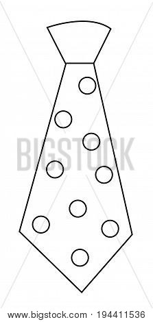Polkadot Tie on Isolated White Background Coloring Page