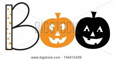 Boo Pumpkins Happy Halloween Holiday October Celebration