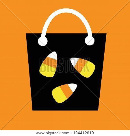 Happy Halloween Candy Corn Goodie Treat Bag
