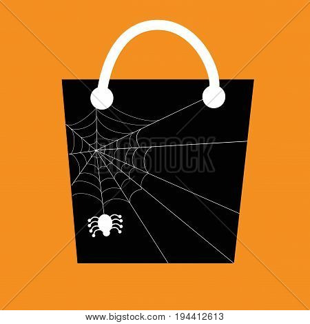 Happy Halloween Spider Web Candy Goodie Bag