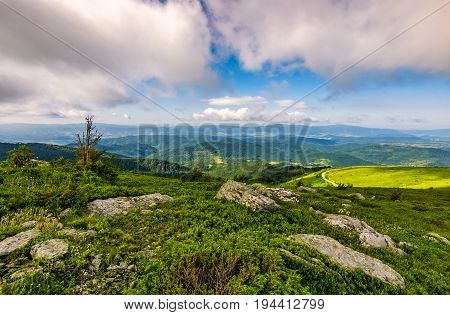 Epic Landscape In Carpathian High Mountain Ridge