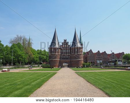 Holstentor (holsten Gate) In Luebeck
