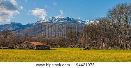 Sunny day in Sierra de Gredos, taken from Candeleda