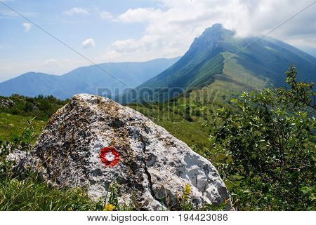 Summer mountain landscape, dynamic summer sky above the mountains. Dry mountain, Serbia, green mountain in summer