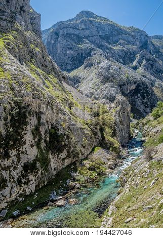 River Cares in Picos de Europa mountains, Asturias