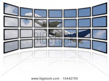Aribus A380 on Screens