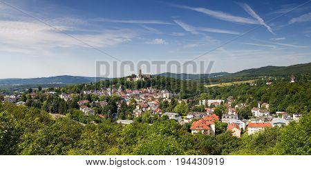 Panorama of the village of Koenigstein Hesse Germany