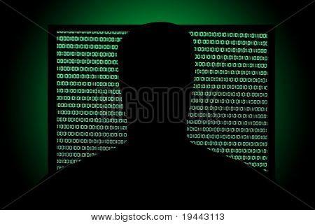 Hack in front of Binary Code in Screen