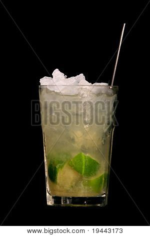 caipirinha isolated on black