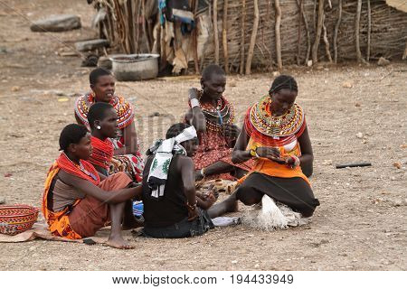 The Traditional Samburu Tribe women in Kenya