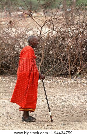 Old man of the Samburu in Kenya