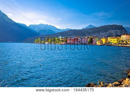 Lago Di Garba Town Of Torbole View