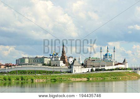 Kazan, Tatarstan, Russia - July 9, 2017.View of the Kazan Kremlin.