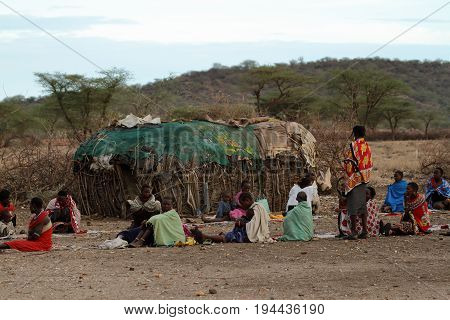 People from the tribe of Samburu in Kenya, 13. October 2012
