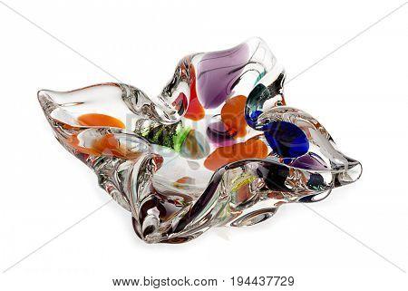 Nostalgic Glass Ashtray Isolated