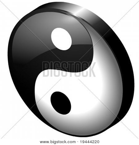 Ying or Yang vector file in 3D