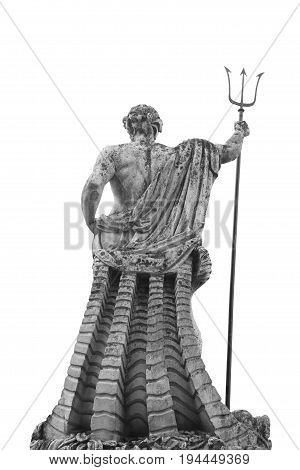 The ancient statue of god of seas and oceans Neptune (Poseidon)