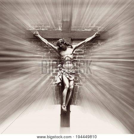 the crucifixion of Jesus Christ as a symbol of God's love