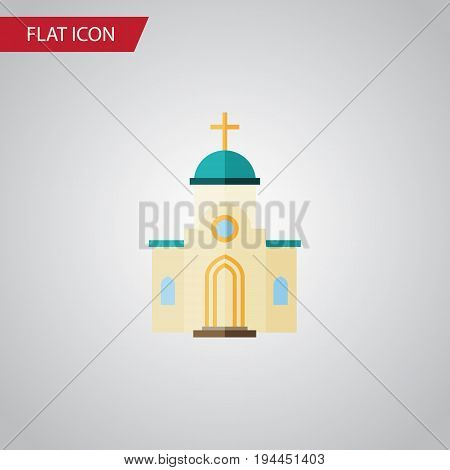 Isolated Architecture Flat Icon. Religious Vector Element Can Be Used For Religious, Architecture, Church Design Concept.