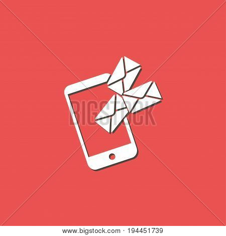 Smartphone email or sms icon. Mobile mail sign symbol.