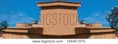 Mediterranean motif Architectural detail at a house on Mediterranean sea in Spain.