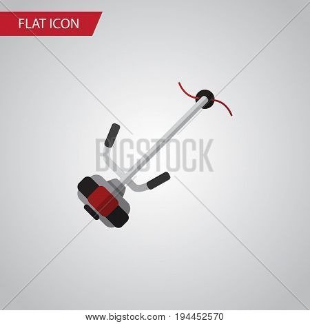 Isolated Lawn Mower Flat Icon. Grass-Cutter Vector Element Can Be Used For Lawn, Mower, Cutter Design Concept.