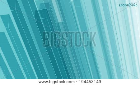 Vector abstract aqua background parallel 3d line with different transparency for your design print and internet