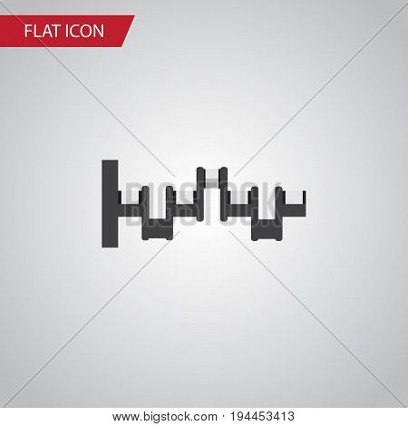 Isolated Crankshaft Flat Icon. Steels Shafts Vector Element Can Be Used For Crankshaft, Steel, Shafts Design Concept.