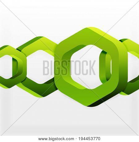 Overlapping hexagons design background