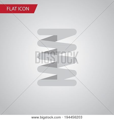 Isolated Car Spring Flat Icon. Crankshaft Vector Element Can Be Used For Crankshaft, Car, Spring Design Concept.
