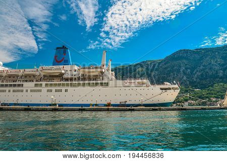 Cruise Ship In The Port Of Kotor