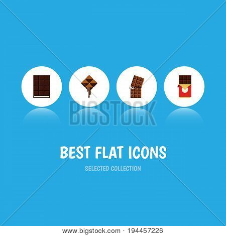 Flat Icon Bitter Set Of Wrapper, Dessert, Delicious And Other Vector Objects. Also Includes Delicious, Shaped, Wrapper Elements.