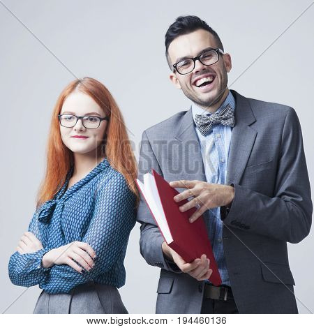 Business people working in the office (Business team success work concept)